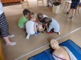 Návštěva členky Červeného kříže