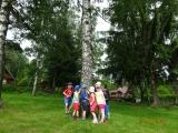 Děti ze druhé třídy na výletě vláčkem do Rohanova